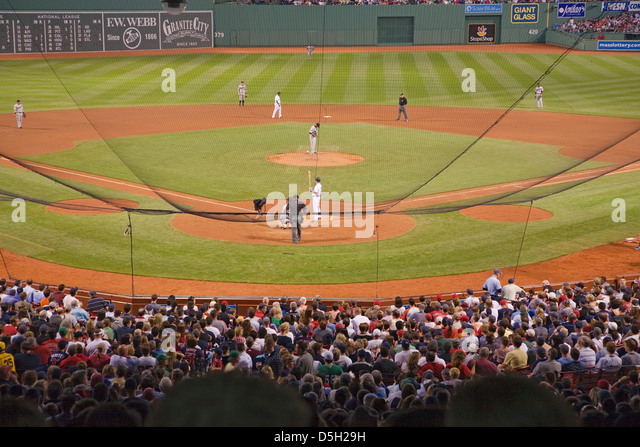 Night Baseball Game Historic Fenway Park Boston Red Sox Ma USA May 20 2010