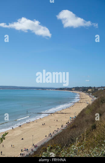West Beach And Poole Bay With Canford Cliffs Sandbanks In The Background Bournemouth