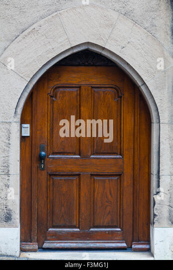 Door style on the streets of the old town district of Geneva - Stock Image & Arch On Door Entrance Stock Photos u0026 Arch On Door Entrance Stock ... pezcame.com