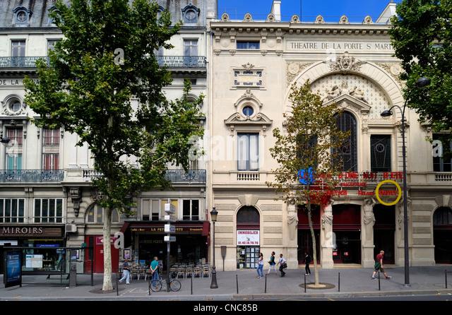 Paris theatre stock photos paris theatre stock images alamy - Theatre porte saint martin ...