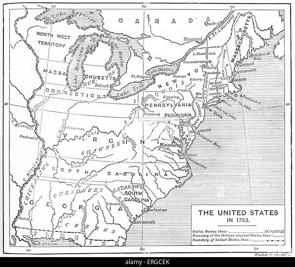 United States Of America Map Stock Photos United States Of - Us map 1783