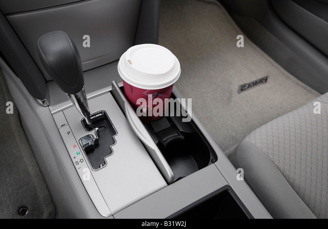 Toyota Corolla Coffee Cup >> Cup Holder With Prop Stock Photos & Cup Holder With Prop Stock Images - Alamy