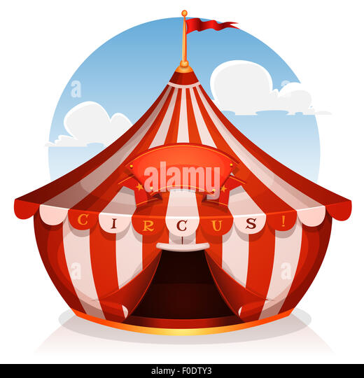 Illustration of cartoon white and red big top circus tent background with marquee or banner on  sc 1 st  Alamy & Circus Big Top Tent Cut Out Stock Images u0026 Pictures - Alamy