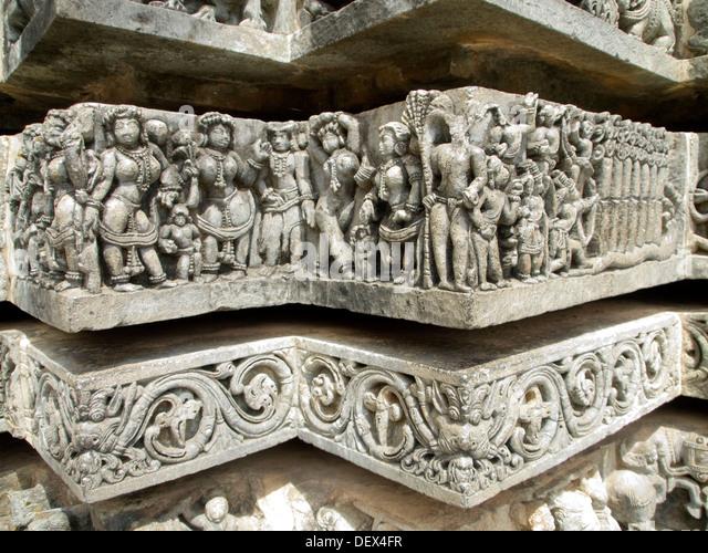 Hoysaleshwara temple stock photos