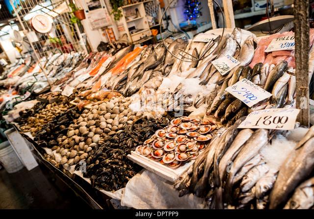 Santiago central market stock photos santiago central for Central fish market
