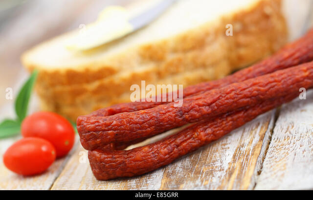 Traditional Thin Pork Sausages Stock Image