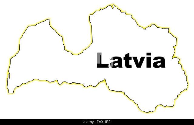 Latvia Map Outline Stock Photos Latvia Map Outline Stock Images - Latvia map outline