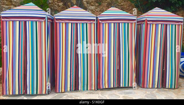 Changing tents on a beach in Croatia - Stock Image & Changing On The Beach Stock Photos u0026 Changing On The Beach Stock ...