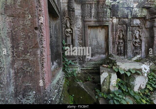 Buddhist rock carvings stock photos