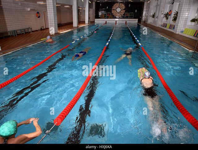 Indoor Public Swimming Pool public swimming pool interior stock photos & public swimming pool