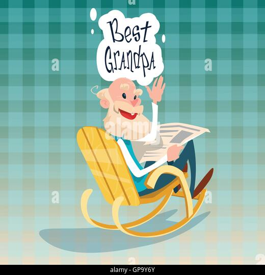 ... Rocking Chair Stock Photos & Grandfather Granddaughter Rocking Chair