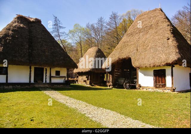 Medieval peasant house stock photos medieval peasant house stock images alamy - Romanian peasant houses ...