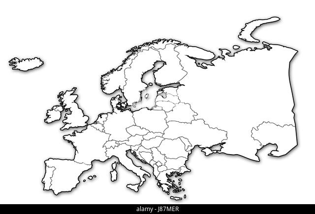 Political Map Europe Black and White Stock Photos & Images - Alamy