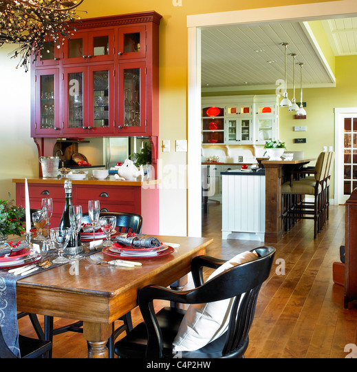 Buffet table kitchen home stock photos buffet table for Dining room tables vancouver bc