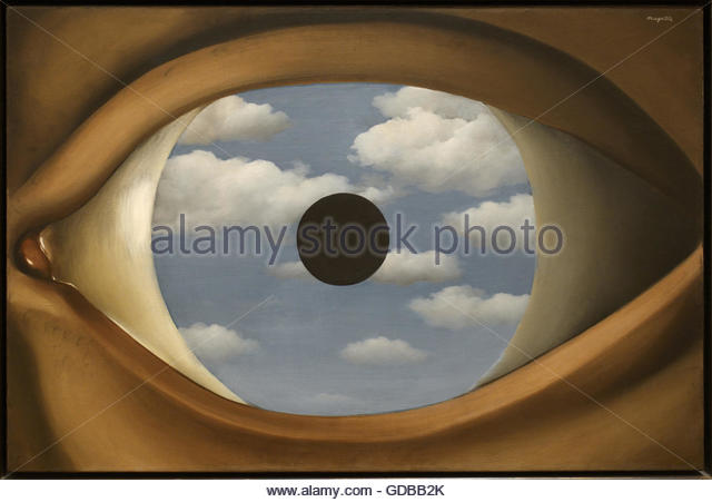 Rene magritte painting stock photos rene magritte for Rene magritte le faux miroir
