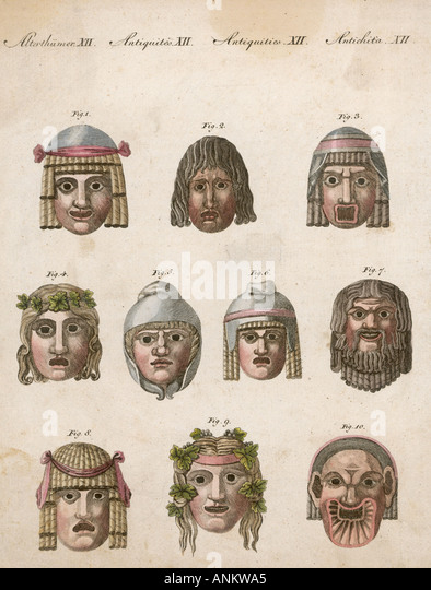 Greek Theatre Costumes And Masks
