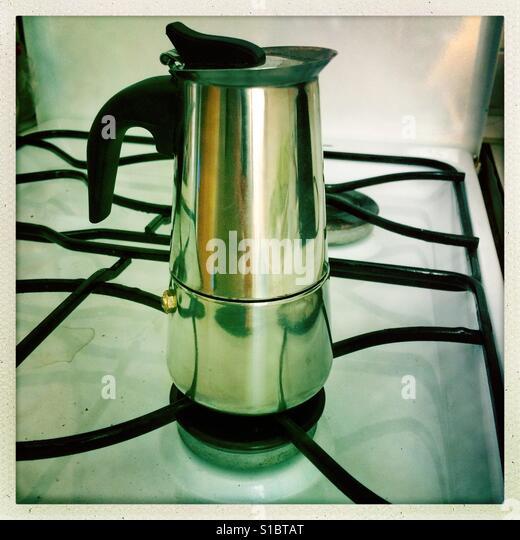 Coffee Maker On Gas Stove : Coffee Stove Stock Photos & Coffee Stove Stock Images - Alamy