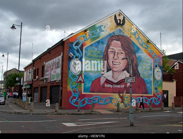 Sinn fein mural stock photos sinn fein mural stock for Bobby sands mural