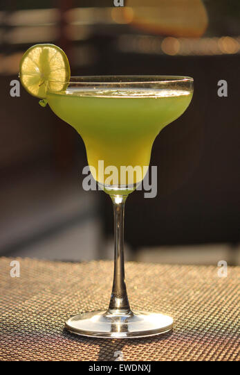 Grinch cocktail with peach schnapps bacardi stock image