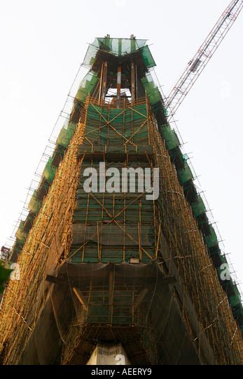 Steel Scaffolding Japan : Construction method stock photos