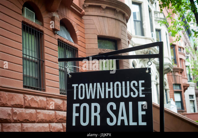 Townhouse for sale stock photos townhouse for sale stock for Upper west side townhouse for sale