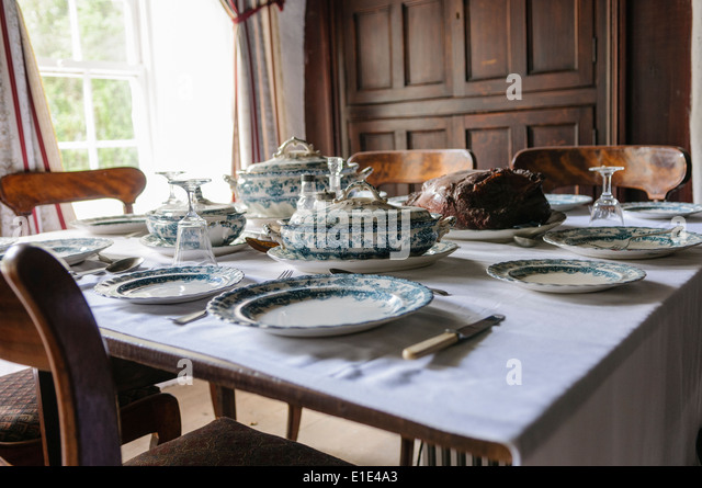 dining table setting stock photos victorian dining table setting