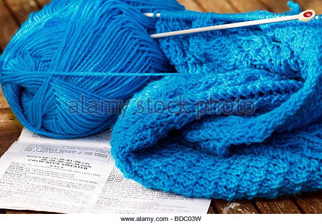 Big Knitting Needles Free Patterns : Fibres Closeup Stock Photos & Fibres Closeup Stock Images - Alamy