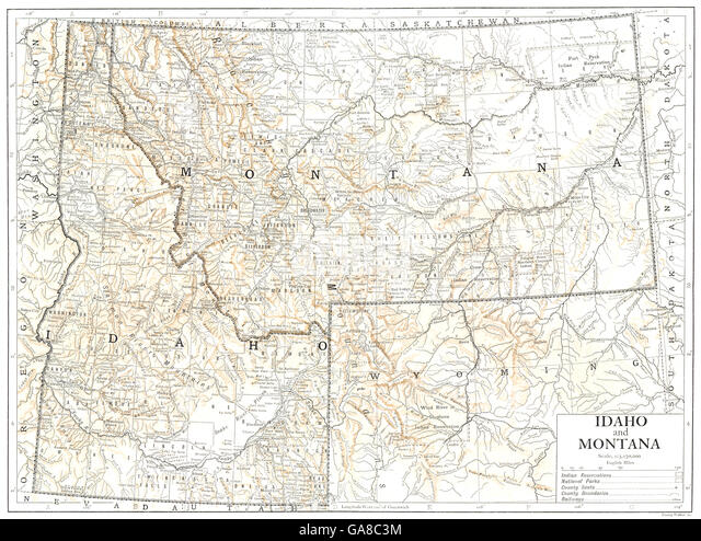 Montana State Map Stock Photos Montana State Map Stock Images - Montana state map