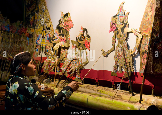 Wayang puppet stock photos wayang puppet stock images - Artesania de indonesia ...