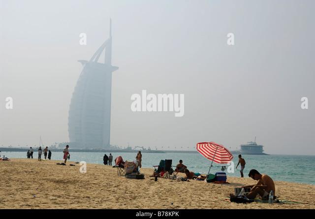 beach near burj al arab stock photos & beach near burj al arab