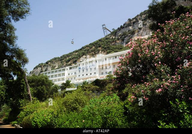 Charmant View Of The Rock Hotel Gibraltar From The Gibraltar Botanic Gardens Or  Alameda Botanic Gardens