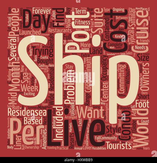 Cruise Ship Word Cloud Concept Stock Photos Cruise Ship Word - Can you text from a cruise ship