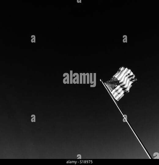 American Flag Black and White Stock Photos & Images - Alamy