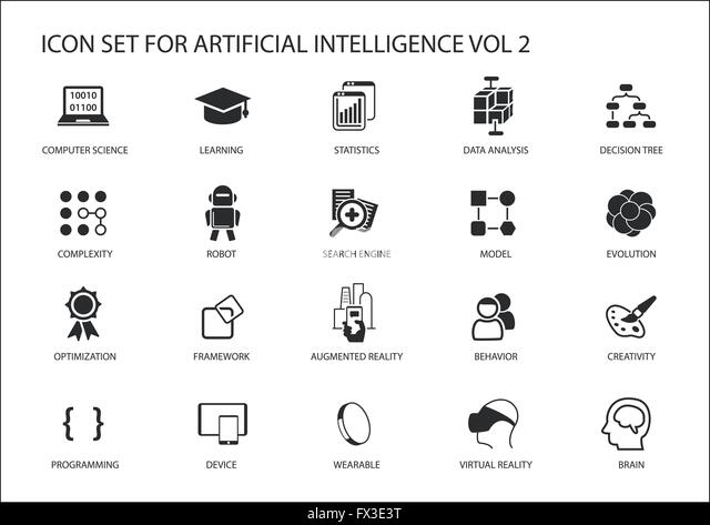 artificial intelligence stock vector images