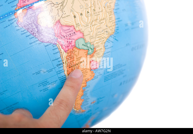 Map Of Argentina Isolated Stock Photos Map Of Argentina Isolated - Argentina globe map