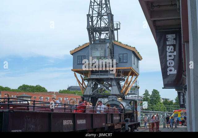 Canopy and Stars at Crane 29 Bristol Harbourside England UK - Stock Image & Canopy And Stars By Sawdays Treehouse On A Crane Stock Photos ...