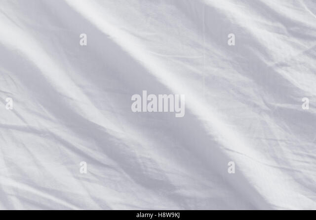 white bed sheet texture. Crumpled Bed Sheets Texture, Top View Of Used - Stock Image White Sheet Texture