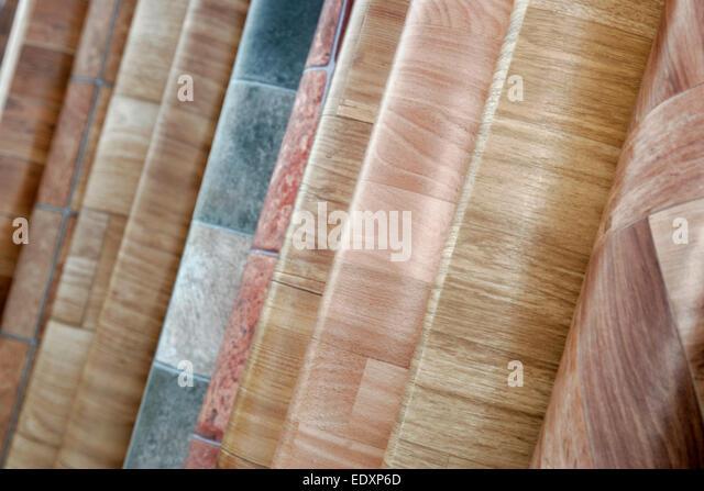 rolls of lino vinyl floor covering stock image - Linoleum Flooring Rolls