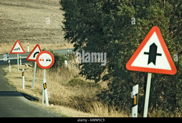 Road Signs Andalusia Stock Photos Road Signs Andalusia Stock - Road sign furniture