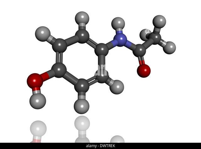 Paracetamol Molecule Photograph by Dr Tim Evans
