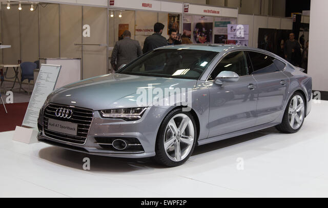 Audi A7 Sportback Fair Area Istanbul Leather Fair   Stock Image