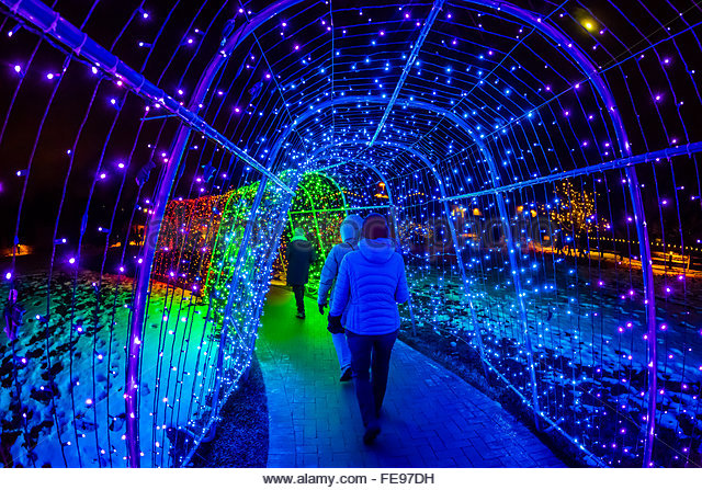 Charming A Tunnel Of Lights, A Hudson Christmas (holiday Light Show At Hudson Gardens )