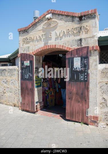FremantleWAAustralia-November 132016Open wooden doors at the & Fremantle Markets Stock Photos \u0026 Fremantle Markets Stock Images ...
