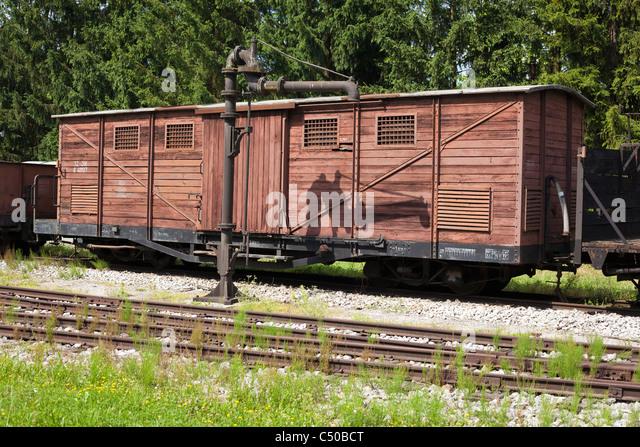 Old Railway Wagon Stock Photos & Old Railway Wagon Stock