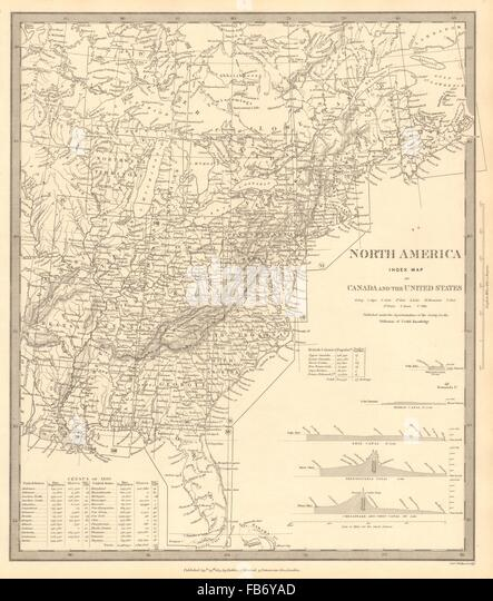 United States Map Stock Photos United States Map Stock - Map of us territories in 1830