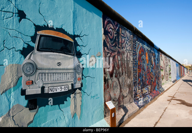 Trabant berlin wall stock photos trabant berlin wall for Berlin wall mural