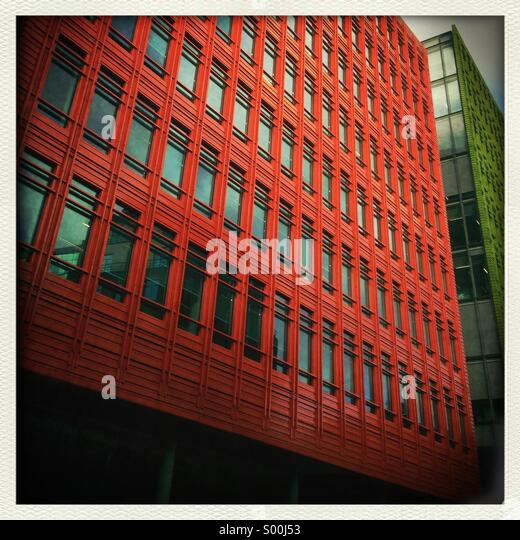 orange building of central st giles in london stock image brightly colored offices central st