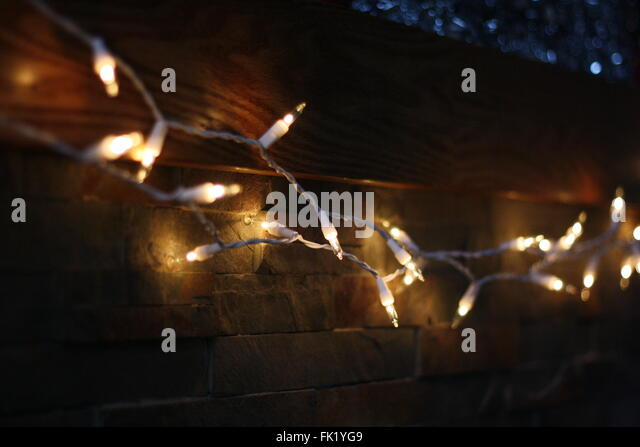 String Lights For Fireplace : Lights On A String Stock Photos & Lights On A String Stock Images - Alamy