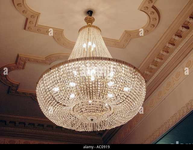 Ballroom with chandeliers stock photos ballroom with chandeliers essex hotel ballroom ceiling glass chandelier stock image mozeypictures Gallery