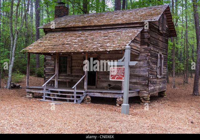 Incroyable Pioneer Log Cabin At Callaway Gardens In Pine Mountain, Georgia.   Stock  Image